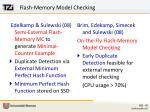 flash memory model checking