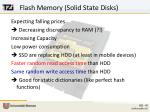 flash memory solid state disks