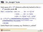 on google scale