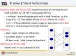 practical efficient perfect hash