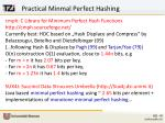 practical minmal perfect hashing