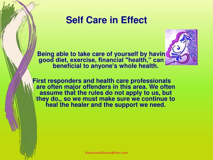Self Care in Effect