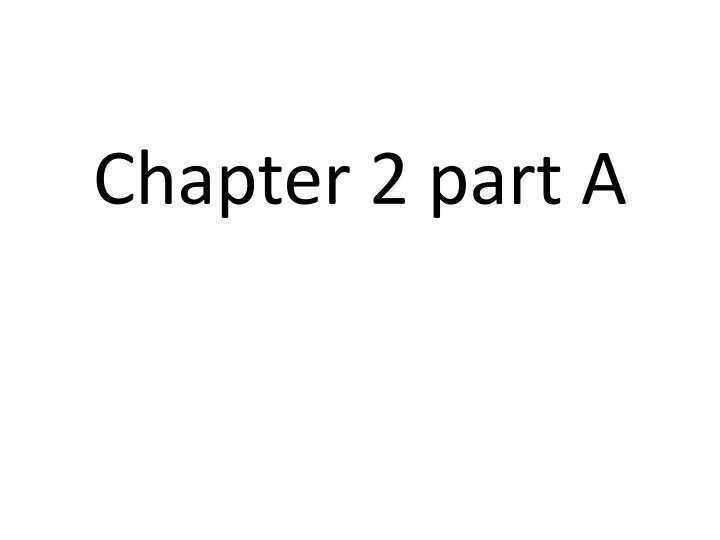 chapter 2 part a n.