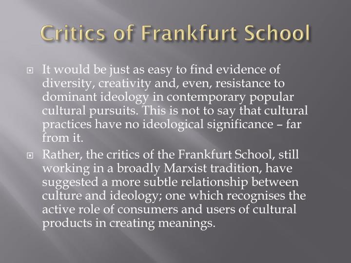 Critics of Frankfurt School