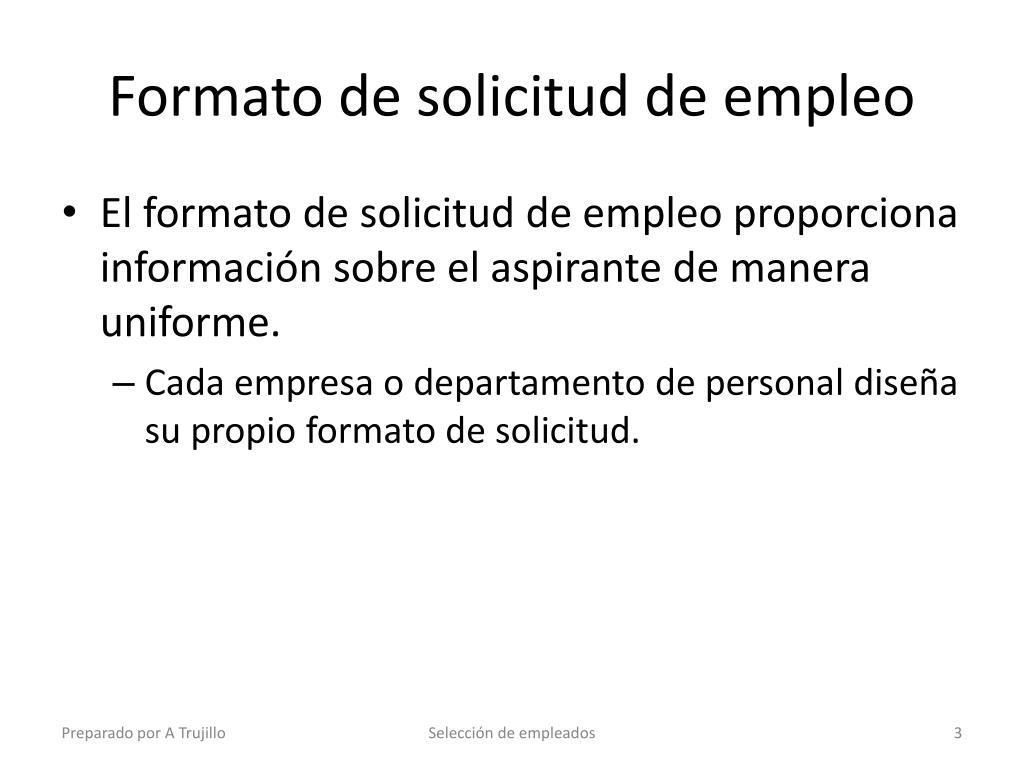 Ppt Seleccion De Empleados Powerpoint Presentation Id