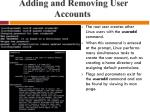 adding and removing user accounts