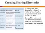 creating sharing directories