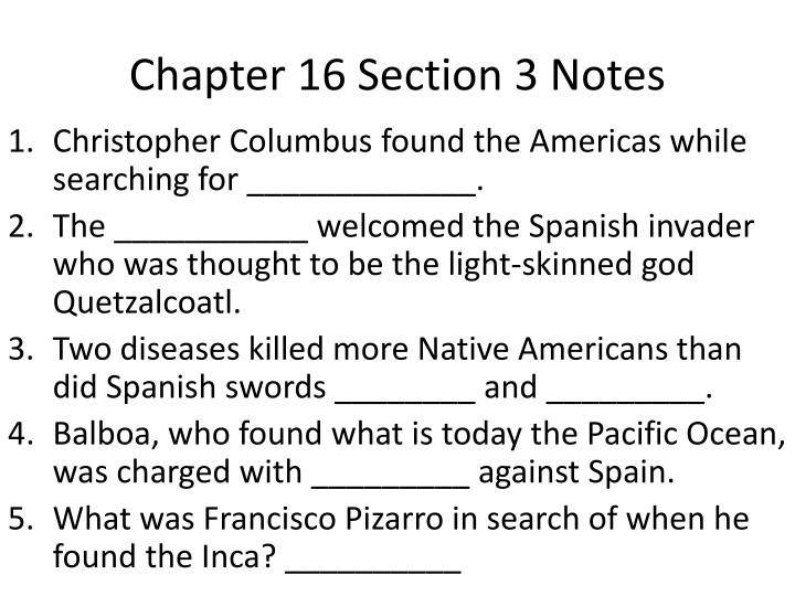 chapter 16 section 3 notes n.