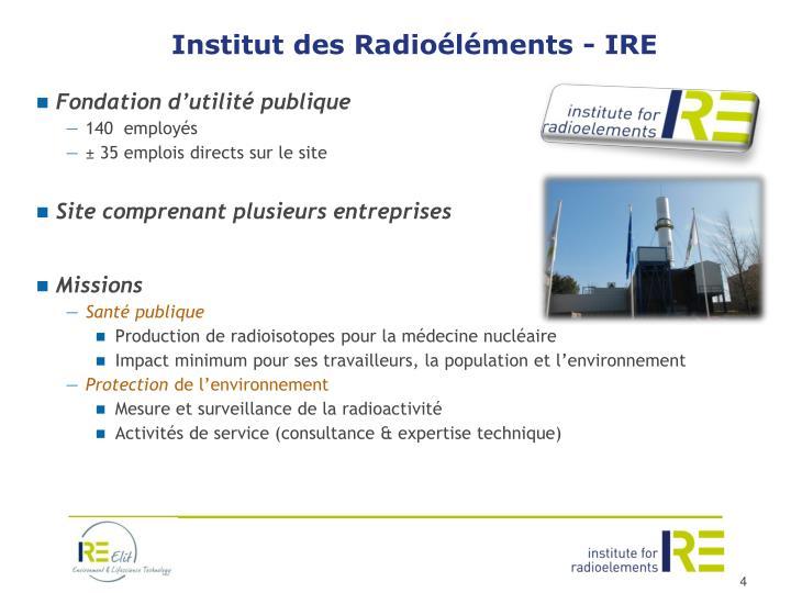 Institut des Radioéléments - IRE