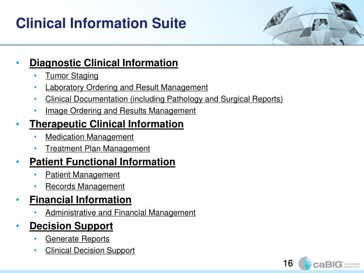 Clinical Information Suite