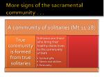 more signs of the sacramental community6