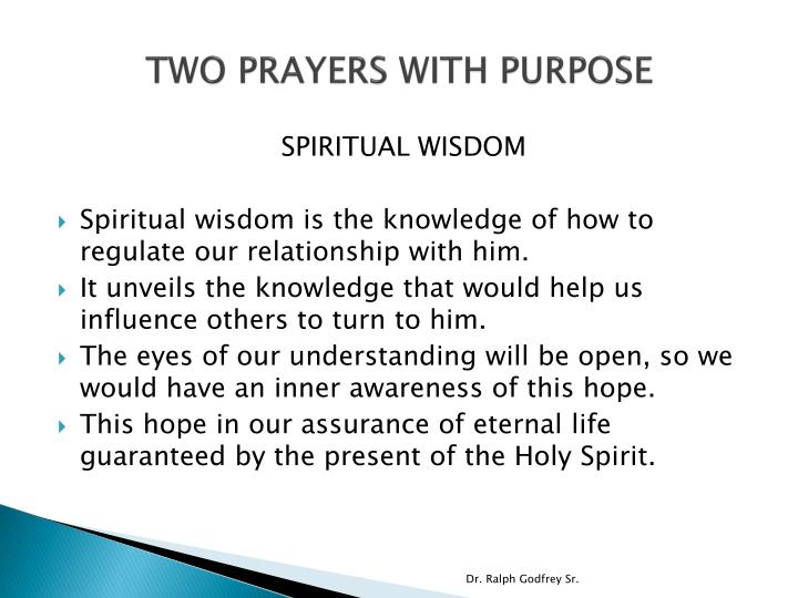 TWO PRAYERS WITH PURPOSE