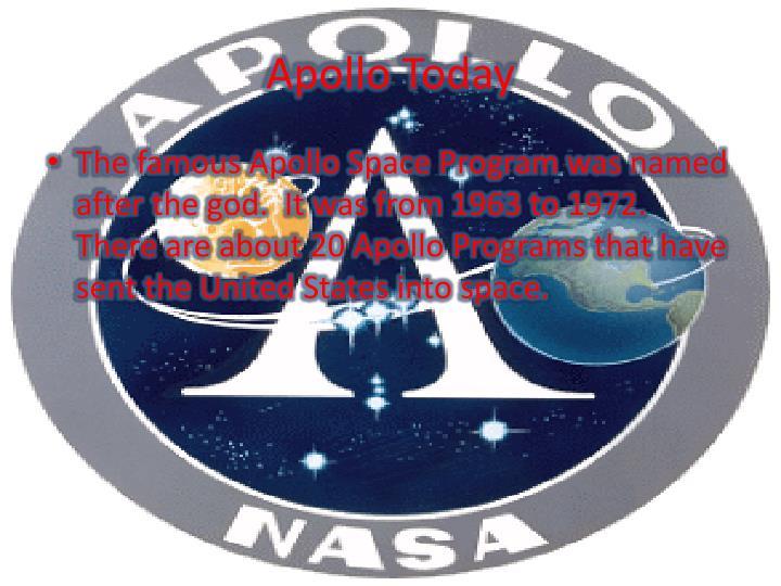Apollo Today