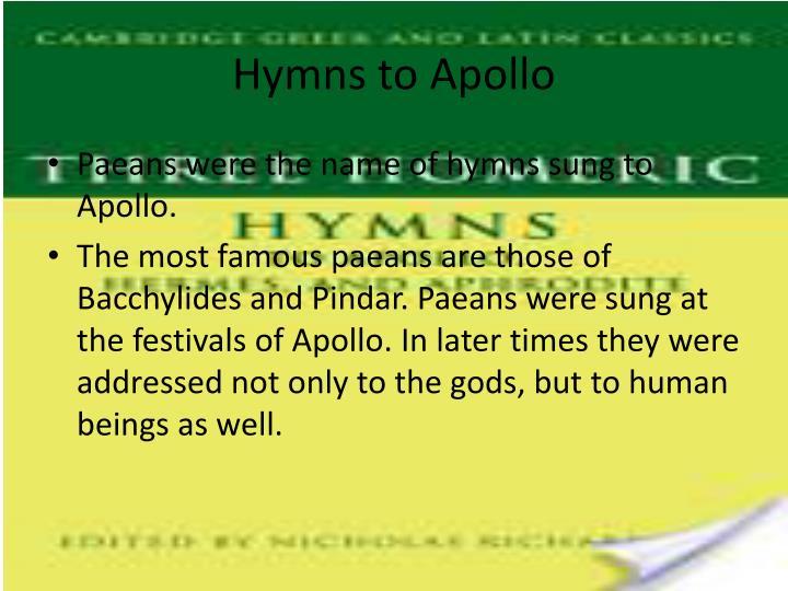 Hymns to Apollo