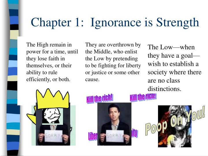 Chapter 1:  Ignorance is Strength