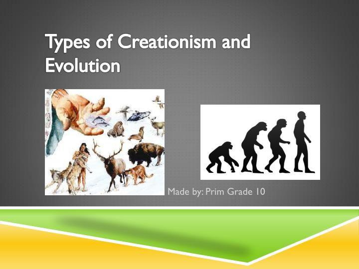types of creationism and evolution n.