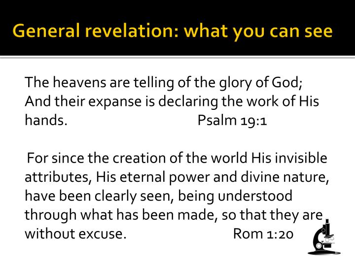 General revelation: what you can see