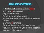 an lisis externo
