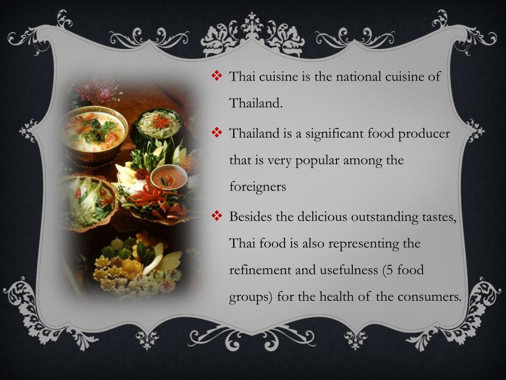 PPT - Thai Cuisine PowerPoint Presentation - ID:1978724