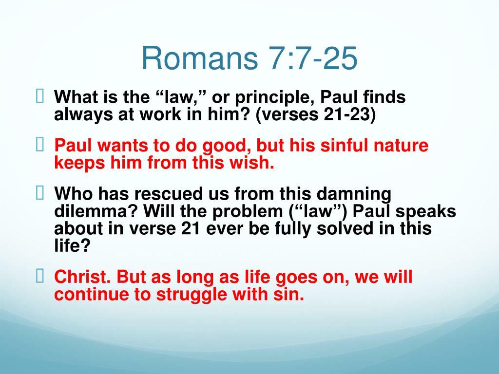 PPT - Romans 7 PowerPoint Presentation - ID:1978727
