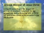 a good minister of jesus christ11