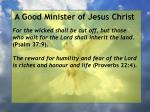 a good minister of jesus christ13
