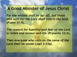 a good minister of jesus christ14