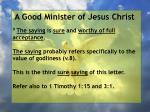 a good minister of jesus christ21