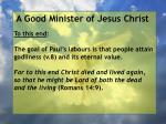 a good minister of jesus christ24