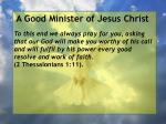 a good minister of jesus christ25