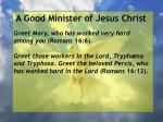 a good minister of jesus christ28