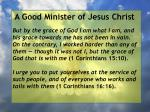 a good minister of jesus christ30