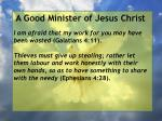 a good minister of jesus christ32