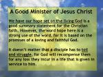 a good minister of jesus christ33