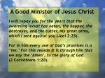 a good minister of jesus christ35