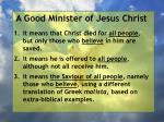 a good minister of jesus christ39