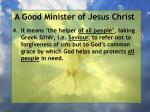 a good minister of jesus christ40
