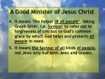 a good minister of jesus christ41