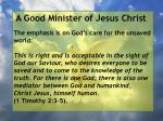a good minister of jesus christ42