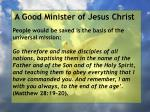 a good minister of jesus christ43