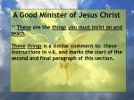 a good minister of jesus christ50