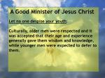a good minister of jesus christ53