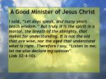 a good minister of jesus christ55