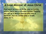 a good minister of jesus christ57