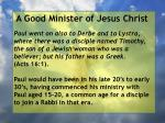 a good minister of jesus christ58