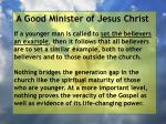 a good minister of jesus christ59