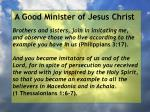 a good minister of jesus christ61