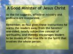 a good minister of jesus christ68