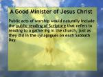 a good minister of jesus christ71