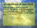 a good minister of jesus christ74